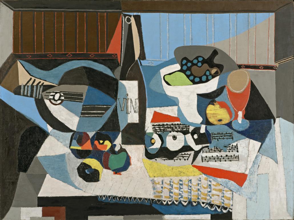 «La bouteille de vin ». Picasso